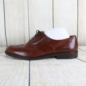 Armando Silva Lace Up Wingtip Leather Dress Shoes